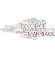 divorce word cloud concept vector image vector image