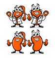 doctor kidney mascot logo vector image vector image