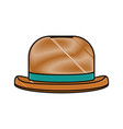 doodle fashion hat object carnival style vector image