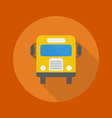 Education Flat Icon School Bus vector image vector image