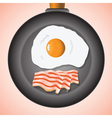 eggs and bacon vector image vector image