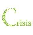 environmental crisis vector image