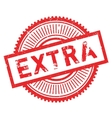 Extra stamp rubber grunge vector image vector image