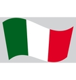 Flag of Italy waving vector image