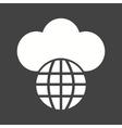 Global Cloud vector image vector image