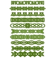 Green celtic knots ornaments vector image vector image