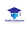 health graduation logo designs vector image
