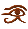 horus eye egyptian symbol egypt ancient religion vector image