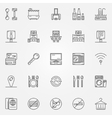 Hotel linear icons vector image