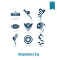 independence day of the united states vector image vector image