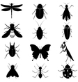 Insects Silhouettes Collection vector image vector image