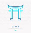 japanese landmark thin line icon vector image vector image