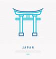 japanese landmark thin line icon vector image