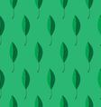 leaves pattern on green background vector image vector image