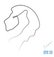 lion head one line style vector image