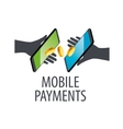 logo mobile payments vector image vector image
