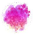 mandala over colorful watercolor beautiful vector image
