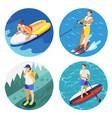 outdoor activities 2x2 design concept vector image
