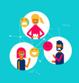 people expressions using social media app emojis vector image