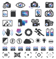 Photocam display icons vector image vector image