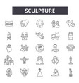 sculpture line icons signs set linear vector image