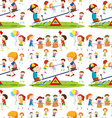 Seamless background with children playing vector image vector image