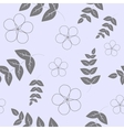 Seamless pattern branches with leaves and flowers vector image