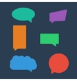 Set of chat icons speech bubbles vector image vector image