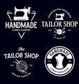 set vintage sewing and tailor labels badges vector image vector image