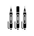 sketching pens black icon concept vector image vector image