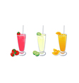smoothies fruit set 2 vector image vector image