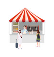 street coffee shop market talls cafe canopy and vector image vector image