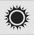 sun icon summer sunshine on isolated transparent vector image