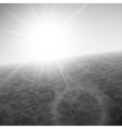 Sunset at sea horizon with summer sun vector image vector image