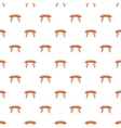 Table pattern cartoon style vector image vector image