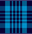tartan plaid pattern in blue print fabric texture vector image vector image