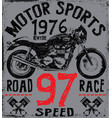 tee graphic motorcycle label t shirt design vector image vector image