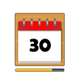The Thirty days on the calendar vector image vector image