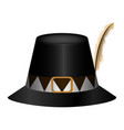 traditional thaksgiving hat vector image vector image