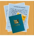 travel documents set for cat vector image vector image