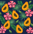 tropical garden with papaya vector image vector image