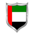 United Arab Emirates flag button vector image vector image