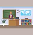 university teacher with education books in the vector image