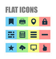 user icons set with dashboard lock arrow and vector image vector image