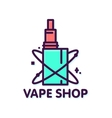 Vape shop graphic style isolated logo vector image vector image
