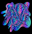 vibrant psychedelic abstract decorative waves vector image