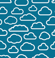 White cloud icons seamless background vector image vector image