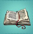 open old book with text fairy tale or novel vector image