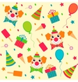 seamless background with party stuff vector image