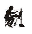 studio artist vector image